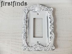 SHabby CHic Switch PLate light White Electrical by Firstfinds Hardware Store on ETSY This shop has 100's of beautiful switch plates to choose from. True vintage pieces as well as hand made ONE OF A KIND treasures. You can easily purchase them online and they will ship right to your door.