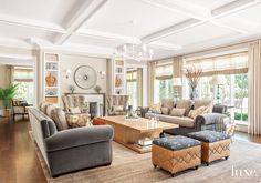 Interior Designer Martin Horner New Traditional Living Room neutral colors two fabric ottomans Chicago Furniture, Home Decor Furniture, Sofa Furniture, Furniture Stores, Fine Furniture, Luxury Interior Design, Best Interior, Interior Architecture, Interior Styling