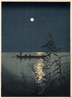 iamjapanese:  SHŌDA Kōhō(庄田 耕峯 Japanese, 1877-1924) Moonlit Sea   1930? woodblock print