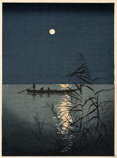 iamjapanese:  SHŌDAKōhō(庄田 耕峯 Japanese, 1877-1924) Moonlit Sea  1930? woodblock print