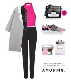 """""""Senza titolo #156"""" by thebrunettesalad ❤ liked on Polyvore featuring Karl Lagerfeld, Topshop, Ally Fashion, Chanel, Monki, Adrienne Landau, Christian Dior, women's clothing, women and female"""
