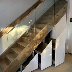 Under Stairs Hidden Storage Drawers : 15 Steps (with Pictures) - Instructables Stairs Storage Drawers, Under Stairs Drawers, Closet Under Stairs, Staircase Storage, Attic Storage, Staircase Design, Hidden Storage, Closet Storage, Secret Storage