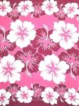 Hibiscus Collage Sarong in Pink