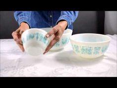 1950's Amish Butter Print Pyrex Mixing Bowl Set of 3