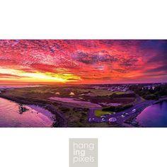 1 of 3 Stunning sunset pano of Port Fairy last night. Things are looking very similar for tonight! Who's going out?  : Dji inspire 1 : x3 : 1/30 f/2.8 ISO100 : N/A : VIC AU  #amazing_australia #australia #australiagram #exploreaustralia #ig_australia #ilo