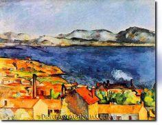 "Paul Cezanne, ""The Bay of Marseilles, Seen from L'Estaque"" Paul Cezanne, Cezanne Art, Aix En Provence, Impressionist Artists, Oil Painting Reproductions, Art For Art Sake, Renoir, French Artists, Oeuvre D'art"