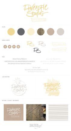 New Brand Launch: Pineapple Studios by Saltedink Ink | www.saltedink.com | #brand #branding #logo