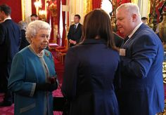 The Queen hosting a reception to celebrate the 10th anniversary of the Queen's Award for Voluntary Service. The reception was held at St. James' Palace 29 May 2013