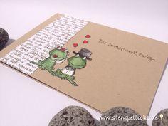 Stempellicht: Froschhochzeit❤️ Hochzeitskarte ...mit Love You Lo...