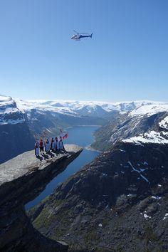 Trolltunga 18 May 2014 by www.opplevodda.com . Hardangerfjord, Norway