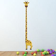 Growth Chart Inch: The Tallest Giraffe - Height Chart Wall Decal / Vinyl Sticker. $49.95, via Etsy.