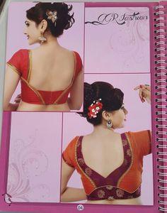 Blouse back neck design .                                                                                                                                                                                 More