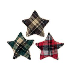 Designs Combined Inc. Plaid Star Décor ($40) ❤ liked on Polyvore featuring home, home decor, holiday decorations, holiday decor, star home decor, holiday home decor and plaid home decor