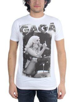 Lady Gaga - Mens Finger T-Shirt In White Size: Medium Color: White