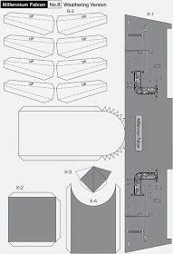 Maqueta descargable  del Halcón Milenario9 Star Wars Origami, Origami Stars, Paper Crafts Origami, 3d Paper, Papercraft Star Wars, Mario Star, Nave Star Wars, Cardboard Model, Star Wars Crafts
