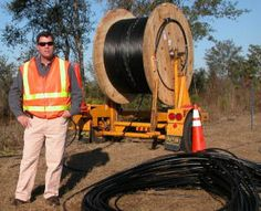Laying Fiber Optics in the ground. Structured Wiring, Fiber, Low Fiber Foods