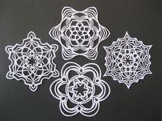 Snowflake Stencils -- Free Christmas Snowflake Stencils to Print