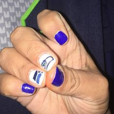 Seattle Seahawks Large Logo Nail Decals NFL Game day nails by NWDesignStudio Seahawks Nail Art