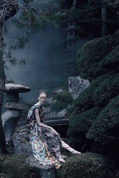 Rianne Van Rompaey by Tim Walker for Vogue UK December 2016.