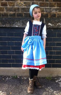 home made Heidi costume