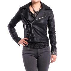 Fashionable Moto Jacket! $48.95 Buy this Jacket at: http://www.dailylook.com/c/12-2011-3-Black-Glitter-Rider-Rock-Chic/1/220.html