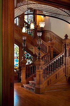 For some folks, stairs are just a vehicle to acquire from 1 floor level to the next. Spiral stairs are the ideal stair design for homes seeking to add Victorian elegance. To begin with, you'll need to strip your stairs… Continue Reading → Victorian Interiors, Victorian Architecture, Beautiful Architecture, Victorian Homes, Architecture Details, Interior Architecture, Classical Architecture, Victorian Stairs, Victorian Decor