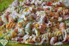 Studený cestovinový šalát Fusilli, Pasta Salad, Salad Recipes, Food And Drink, Vegetables, Ethnic Recipes, Crab Pasta Salad, Vegetable Recipes, Veggies