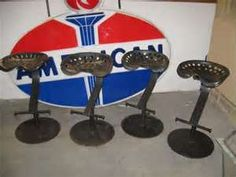 Image detail for -VINTAGE MAINE FARM TRACTOR SEAT METAL BAR STOOLS used, new for sale ...