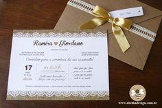 Design De Convite De Casamento   Abelha Design - Convites de casamento