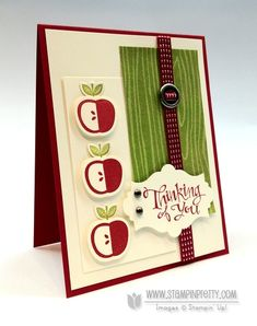 """Stampin up stampinup stamp it card punch catalog demonstrator autumn apples **** SU """"Perfectly Preserved"""" (dup pin - already on 2012 Holiday Mini board)"""