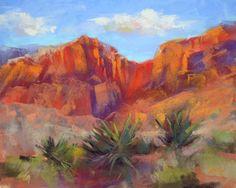 'Red Rocks are Calling'  8x10 pastel  ©Karen Margulis psa