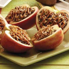 It's an apple bowl filled with delicious caramel apple dip, fudge topping and pecans – a must-try fall recipe, for sure!