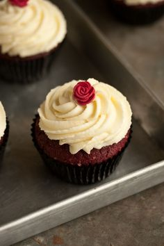The best ever red velvet cupcakes.
