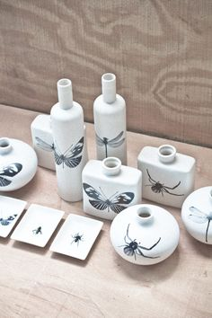 Insect Ceramic Dish Collection  from Earthbound Trading Co.