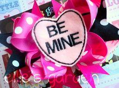 Valentine's Day Be Mine Conversation Heart by elliesgarden on Etsy, $10.99