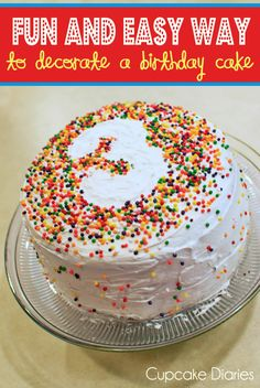 Fun and Easy Way to Decorate a Birthday Cake #cake #birthday #decorating