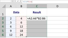 Selecting Ranges for a Multi-Cell Array Formula