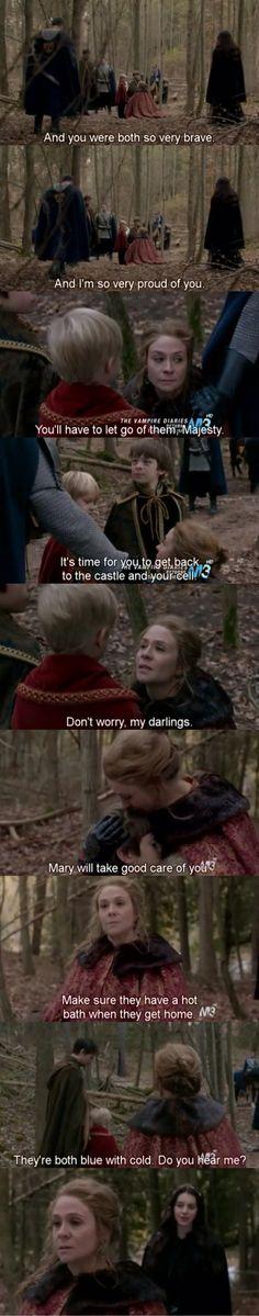 Reign 1x12 Royal Blood Queen Catherine & her children • Megan Follows