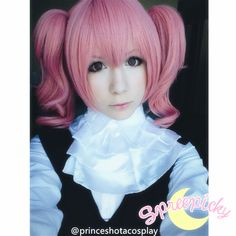 Thanks for the model photo from @princeshotacosplay in instagram :)  Free Shipping Worldwide!  Material:Made of Imported Fiber Hair  Items Include: One main short wig with two pony tails as one set  Color: Pink  There's a adjustable tie to fix up to your head.  A free wig will be give...