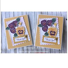 Panda Party, Stampin Up Catalog, Stamping Up Cards, Flower Cards, Pansies, Scrapbook Cards, Making Ideas, Thank You Cards, Cardmaking