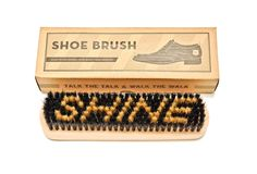 Wooden Shoe Brush With Boars' Hair Bristles