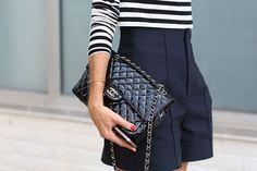 Chanel bag, shorts a