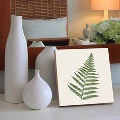 quadro decorativo fern leaf