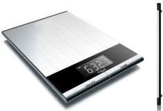 Ozeri Ultra Thin Professional Digital Kitchen Food Scale, in Elegant Stainless Steel - The Ozeri Ultra Thin Digital Kitchen Scale is designed for the culinary perfectionist who desires superior accuracy in function and sleekness in form.  It is one of the lightest kitchen scales on the market and offers easy portability. (67%off)