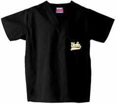 UCLA Scrub Top in Black