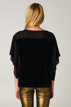 Velour Ebony Top | Awesome Selection of Chic Fashion Jewelry | Emma Stine Limited