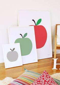 apple print by showler and showler | notonthehighstreet.com