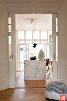 Home Interior, Kitchen Interior, Interior Architecture, Interior And Exterior, Grey Kitchen Designs, Home And Living, Living Room, Loft Kitchen, Interior Minimalista