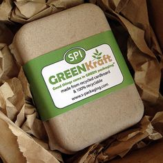 SMALL Clamshell - Eco Friendly and Stylish Green Packaging for Soap, Jewelry, Gifts, Party Favors and more. Soap Packaging, Jewelry Packaging, Retail Packaging, Packaging Design, Kraft Packaging, Packaging Ideas, Eco Brand, Cosmetic Containers, Packaging