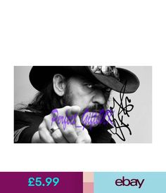 Pre-Printed Autographs Ian Lemmy Kilmister Motorhead Signed Autographed 10X8 Repro Photo Print #ebay #Collectibles